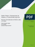 Gasto Publico Evaluaciones de Impacto y Productividad Agricola en ALC