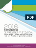Directorio de Entidades de Atención de La Niñez y de La Adolescencia