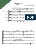 Jägerliedchen - Brass Quintet - Full Score - arr. Benjamin Borg