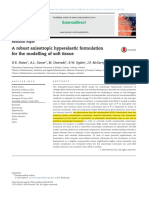 A Robust Anisotropic Hyperelastic Formulation for the Modelling of Soft Tissue