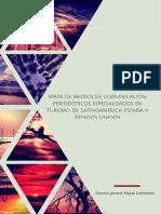 Mapa de Medios de Comunicación Periodísticos Especializados en Turismo de Latinoamérica, España y Estados Unidos