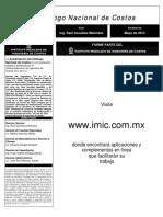 Catalogo Nacional de Costo