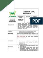 SPO Asesmen Awal Medis IGD