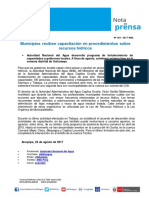 Nota de Prensa Nº 164-2017 - AAA CAPLINA OCOÑA