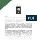 Hoja de Vida Daniel Lapuente 2017 - II