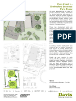 0172 230 Davis Landscape Architecture Chelmsford Business Park Commercial Landscape Architect Planning Tender Data Sheet 1