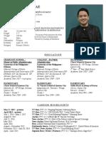 JULES GUIANG's Curriculum Vitae