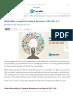 General Awareness_ SSC-CGL 2017