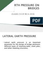 Earth Pressure on Bridges