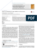 Impact of weathering on slope  stability in soft rock mass.pdf