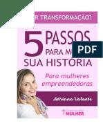 E-book 5 Passos Mude Sua Historia