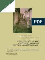CONSTITUCIÓN de 1991 Conflicto Armado y Contro Constitucional