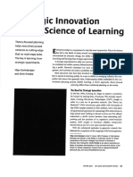 Strategic Innovation and the Science of Learning