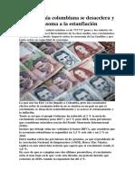 La Economía Colombiana Se Desacelera y Se Asoma a La Estanflación