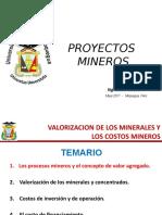 Valorizacion de Los Minerales y Los Costos Mineros