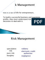 Lec 20 Risk Management
