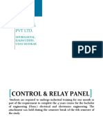 Training Report on control relay panel