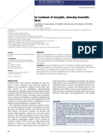 Finnish Guidelines for the Treatment of Laryngitis, Wheezing Bronchitis
