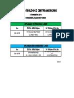 Horario IIII trimestre 17, Grado, Dipls noche.pdf