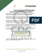 2802 Configurar Licenca Rdscal