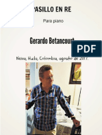 PASILLO EN RE. Para piano. Gerardo Betancourt