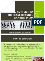 Managing Conflict to Increase Channel Coordination