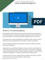 Aprenda a Remover Sua Senha de Login No Windows 10 de Forma Simples!