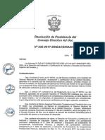 Resolución N°332-2017-SINEACE-CDAH-P