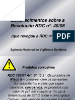 Esclarecimento RDC 40
