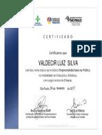Certificado Valdecir Luz Da Silva
