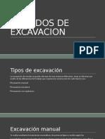 Metodos de Excavacion