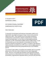 APPU solicita que la UPR sea declarada como servicio esencial