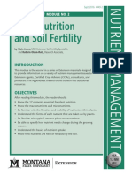 Plant Nutrtion and Soil Frertility