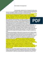 El Grupo Sostén y Determinante Del Psiquismo