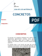Tecnologia de Los Materiales- Concretos