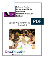 Opinion-Argument Resource Packet 3 -6