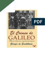 De Santillana Giorgio - El Crimen de Galileo