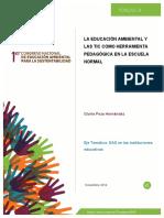 La Educacion Ambiental y Las TIC Como Herramienta Pedagogica
