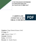 Caractulas de Comunicacion Oral y Escrita