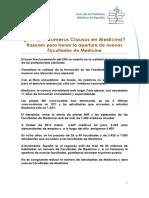 Doc   Razones de  por que Numerus Clausus en Medicina.pdf