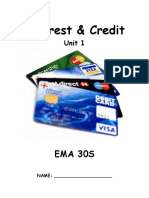Interest and Credit Booklet