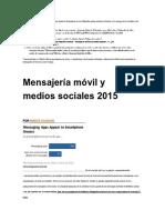 Mobile Messaging and Social Media 2015.en.es