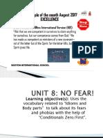 UNIT 8- No Fear- Language Arts-2017