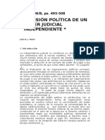 Maier - Dimension Politica de Un Poder Judicial Independiente