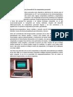 Origen y Desarrollo de Las Computadoras Personales