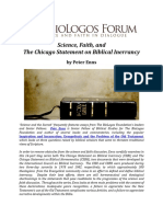 Science Faith and the Chicago Statement on Biblical Inerrancy Enns Edited No Watermark