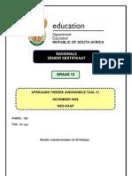 Afrikaans SAL P1 Nov 2009 (Western Cape)