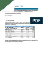 Database Analysis