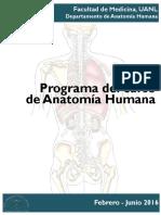 Programa Regular Anatomia Feb Jun 2016