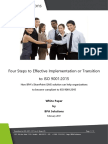 Transition to ISO 9001 2015 in 4 StepsAOQ